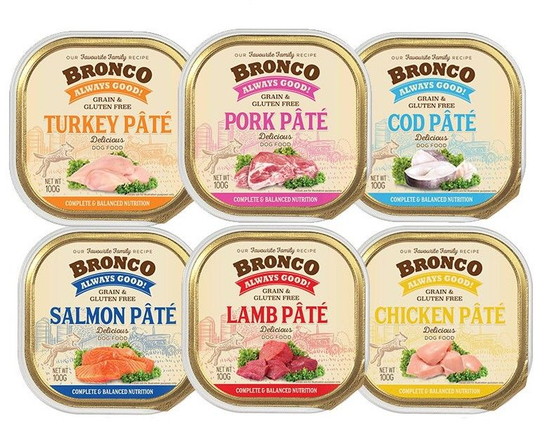 Bronco Pate Wet Food for Dogs