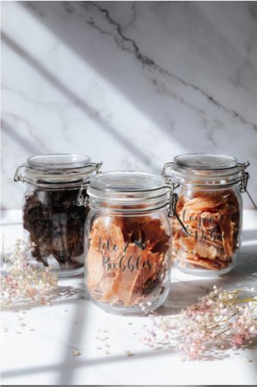 [Customisable] Big Airtight Glass Jars with Treats