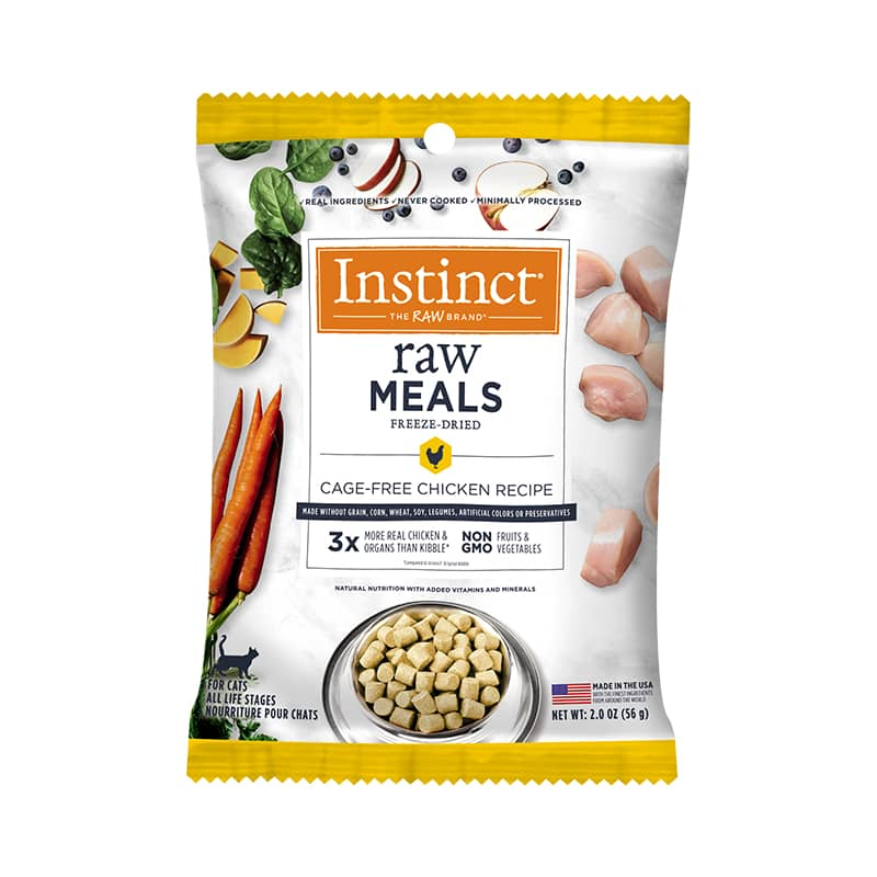 Raw Freeze-Dried Meals Cage-Free Chicken Recipe for Cats