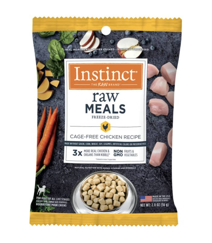 Raw Freeze-Dried Meals Cage-Free Chicken Recipe Pet Food for Dogs